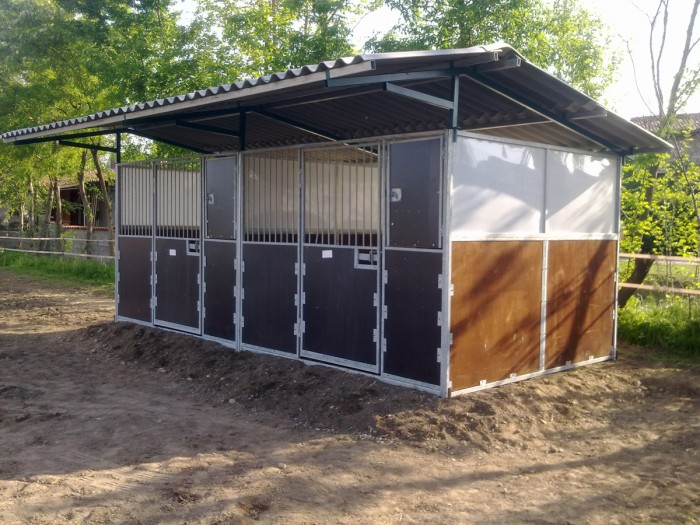 Box and accessories for horses